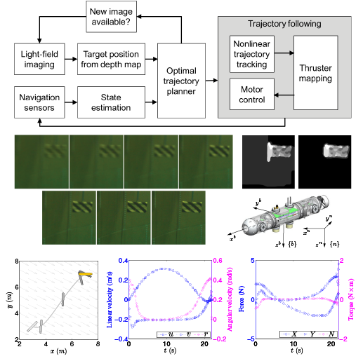 Optimal motion planing with plenoptic imaging feedback